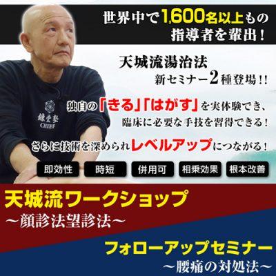 【新日程追加】天城流ワークショップ/フォローアップセミナー【東京】